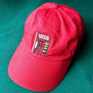 Vans Courtside Baseball Hat Off The Wall Red